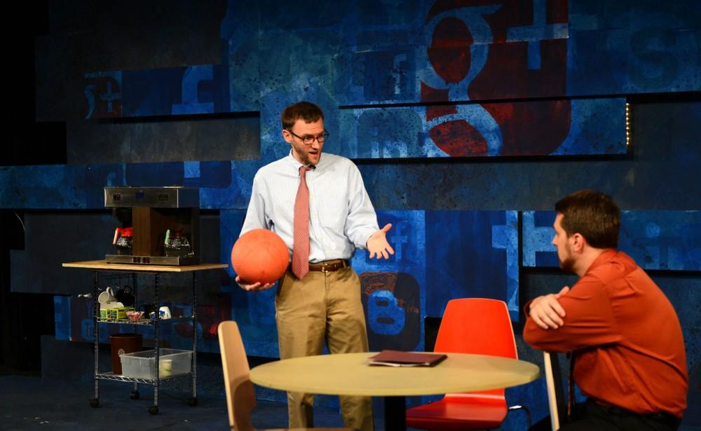 Joseph Bombard and Nicholas Leeman rehearse for