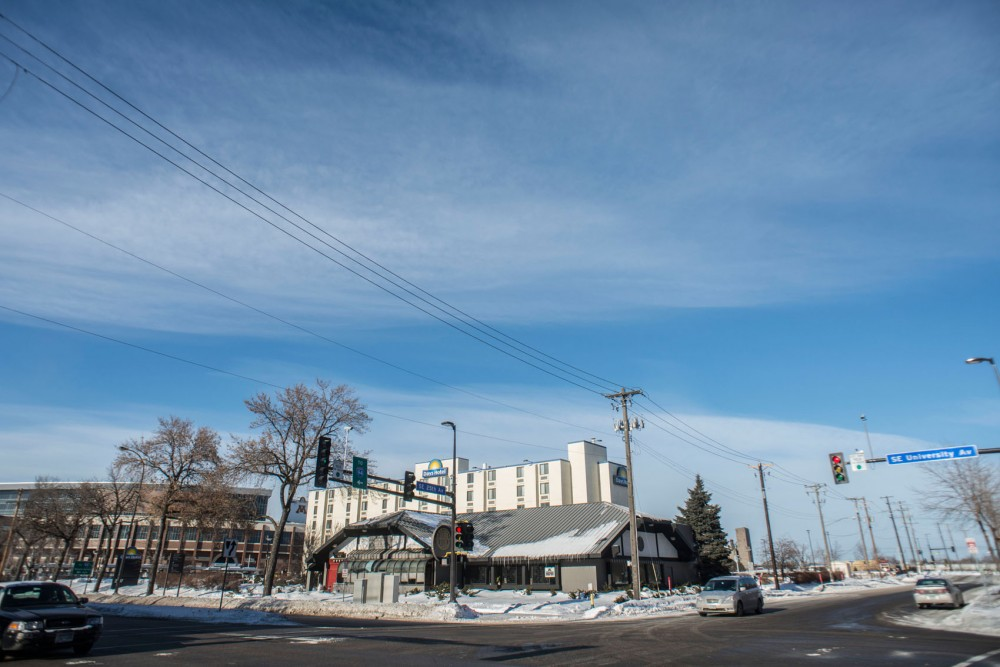 The lot that Tea House and the Days Inn Hotel occupy at the corner of University Avenue and 25th was recently purchased by the University.