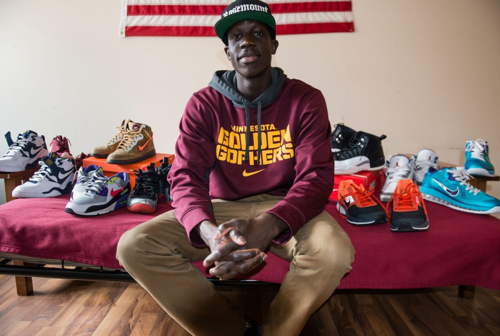 Middle-distance track runner Goaner Deng has over 40 pairs of sneakers. Deng will run at the Big Ten Indoor Championships on Feb. 28.