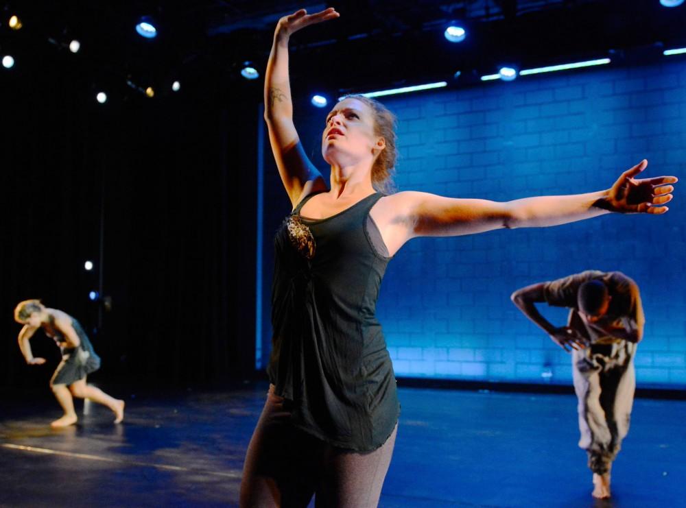 BFA student Nikki Ervice rehearses