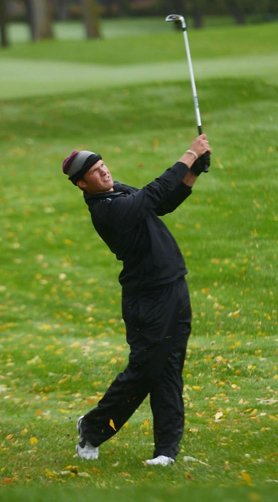 Minnesota's Jon Trasamar plays Sunday, Oct. 6, 2013, at the Edina Country Club.