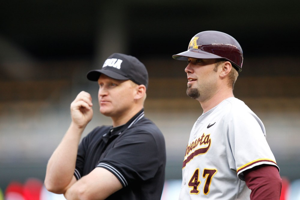 Tyler Oakes will return to Minnesota to take on his father, Todd Oakes, as a pitching coach at North Dakota State on Tuesday night.