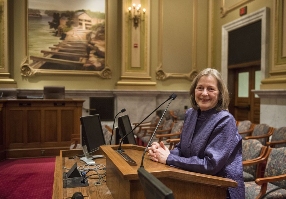 Commissioner of the Minneapolis Health Department Gretchen Musicant received the Gaylord W. Anderson Leadership Award from the University of Minnesota's School of Public Health earlier this month.