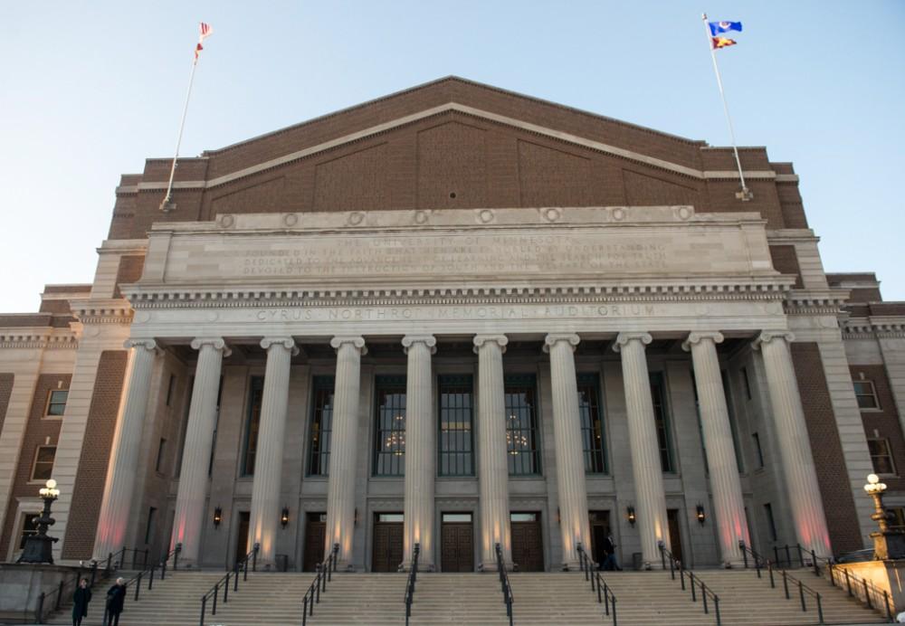 Northrop Auditorium at the University of Minnesota on April 5, 2015.