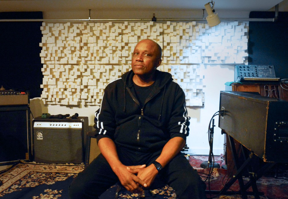 Sonny Knight, a prominent Minneapolis R&B musician in the '60s and '70, at local label Secret Stash Records on Monday. Knight held a release party for his new album at First Avenue on Monday, April 28, 2014.