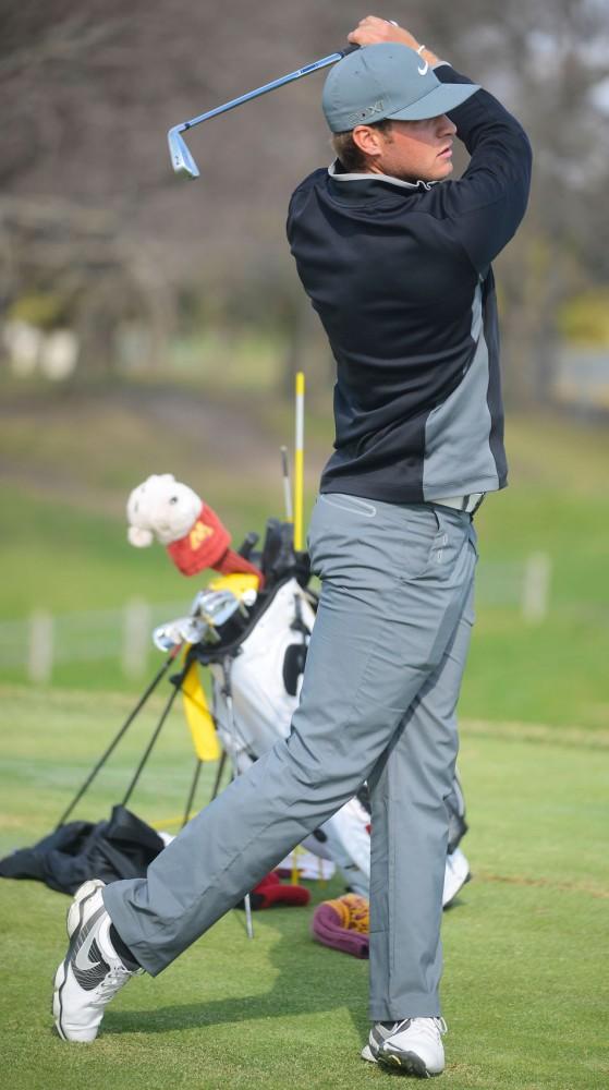 Minnesotas Jon Trasamar practices at the Tom Lehman Practice Facility at Les Bolstad Golf Course in St. Paul, Minn., on Friday, April 25, 2014.