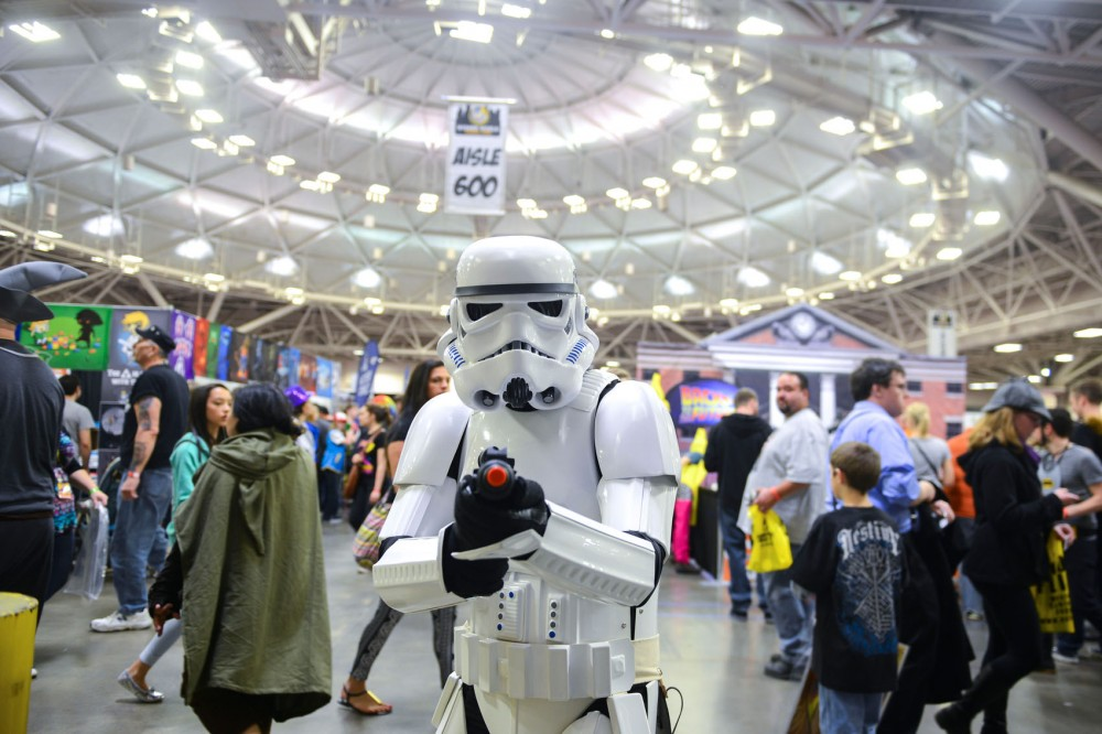 Dave Mathisen dresses as a storm trooper to attend Wizard World's first Minneapolis Comic Con at the Convention Center on Saturday. Mathisen traveled from Fargo, ND to attend.