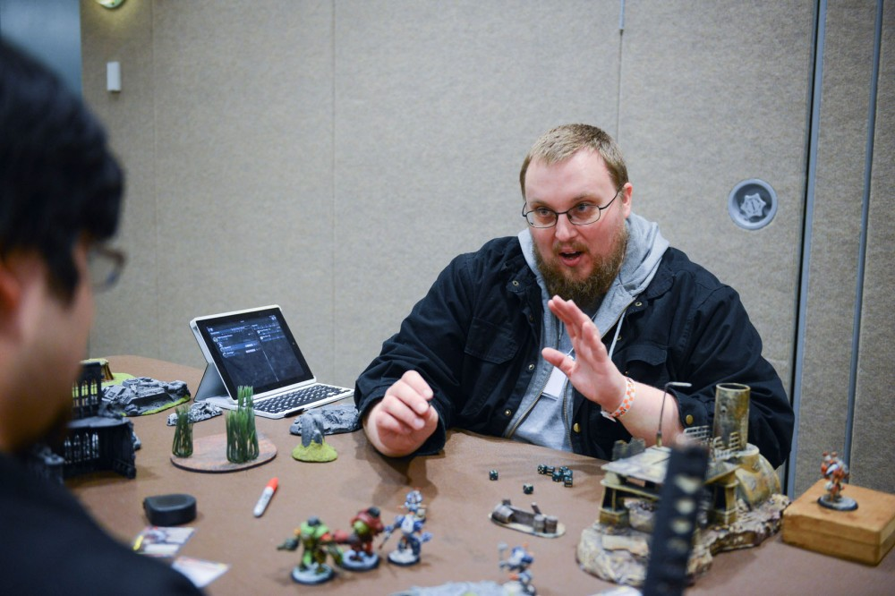 Steve Leske teaches Ben Lubet how to play a game titled,