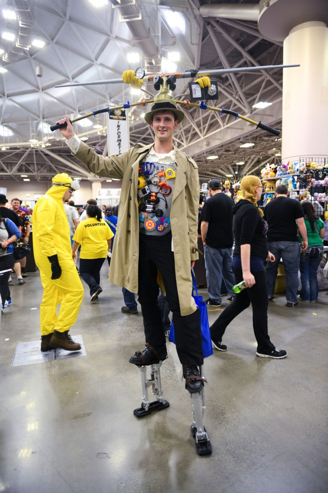 Ryan Schmidt dresses as Inspector Gadget to attend Wizard World's first Minneapolis Comic Con at the Convention Center on Saturday. Schmidt created his costume out of household items.