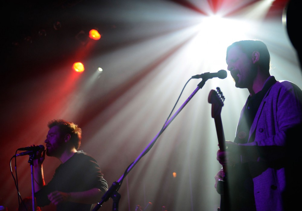 Royal Canoe opens for Bombay Bicycle Club at Varsity Theater in Dinkytown Tuesday evening.