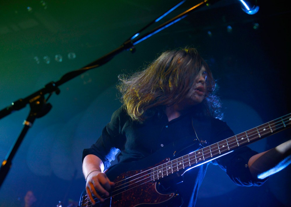 Eddie Nash of Bombay Bicycle club performs at Varsity Theater in Dinkytown Tuesday evening.