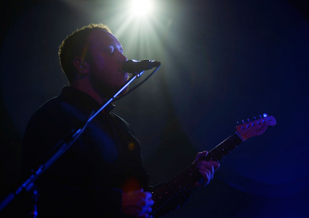 Jamie MacColl of Bombay Bicycle Club performs at Varsity Theater in Dinkytown Tuesday evening.