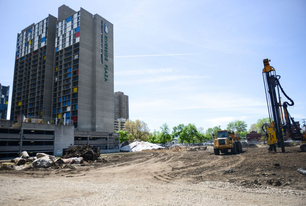 The area of land where Five15 on the Park, a half market rate and half low income housing complex, is to be built is bare and ready for construction on Thursday in the Cedar-Riverside neighborhood.