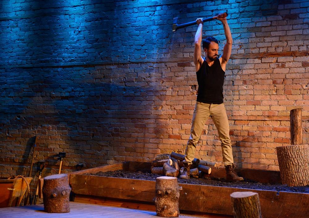 Elias Arkham rehearses the new play