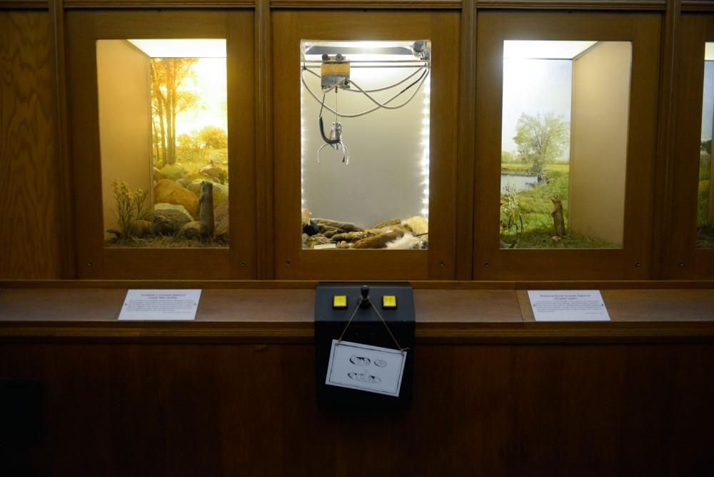 Bell Museum resident artist Andy DuCett created an art installation, a drop-claw