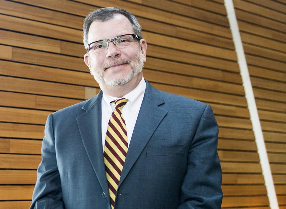 University President Eric Kaler poses for a portrait at McNamara Alumni Center on Wednesday afternoon. Kaler