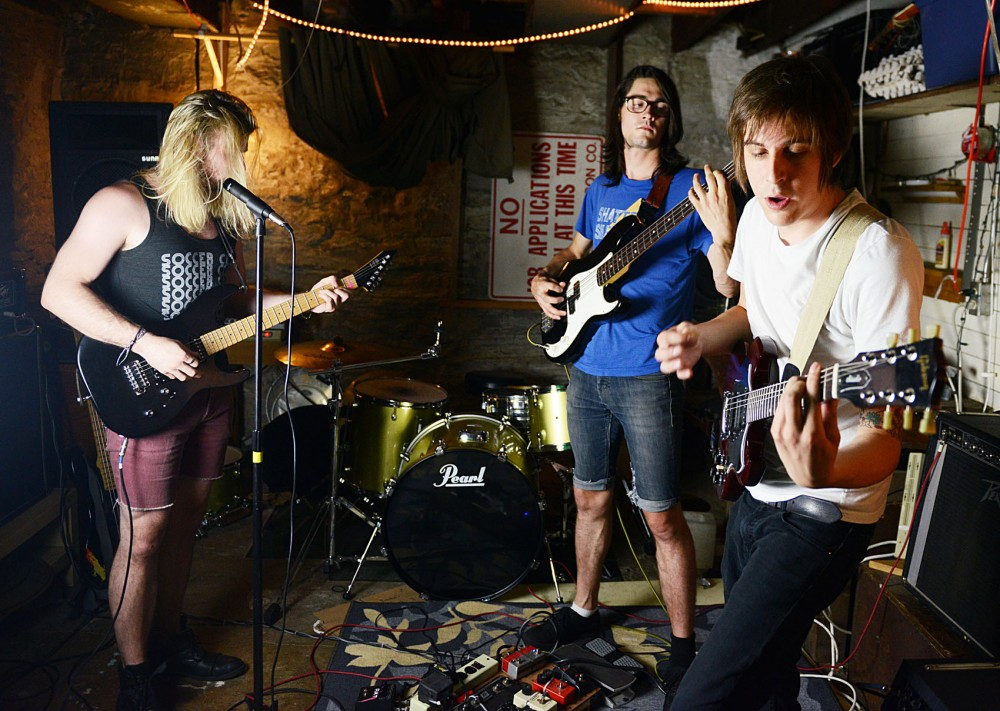 Members of local band Some Pulp rehearse on Friday. Some Pulp will play at FMLY Fest this weekend.