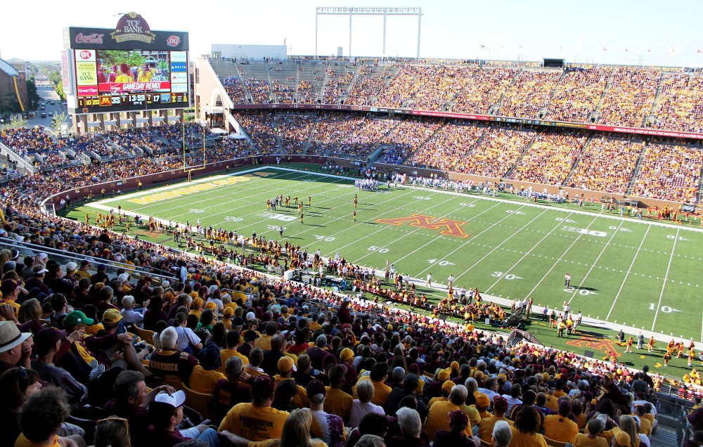 Fans fill the stands for Minnesota's game against Middle Tennessee State at TCF Bank Stadium on Saturday. The announced attendance for the game was 47,223.