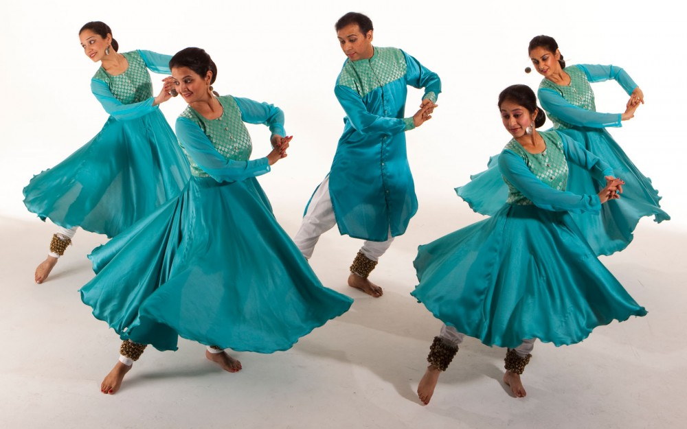 Katha Dance Theatre dancers moving in unison.