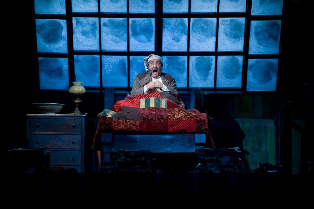 J.C. Cutler acts as Ebenezer Scrooge in the Guthrie Theater's production of the Charles Dickens classic