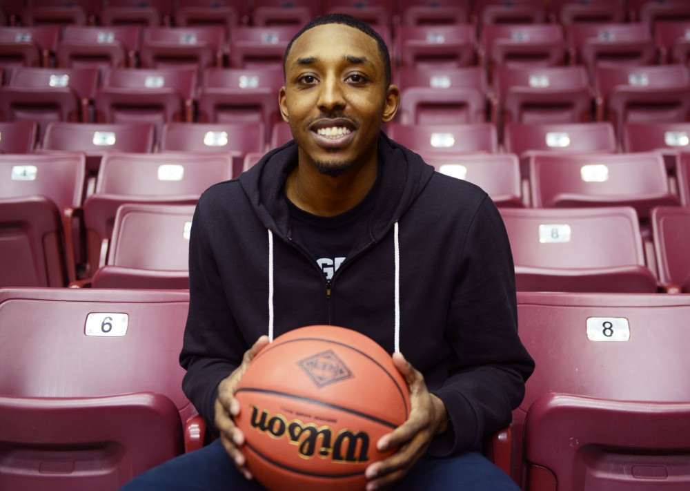 Former Gophers basketball player Al Nolen poses at Williams Arena on Monday evening. Nolen now teaches basketball camps as well as private lessons.