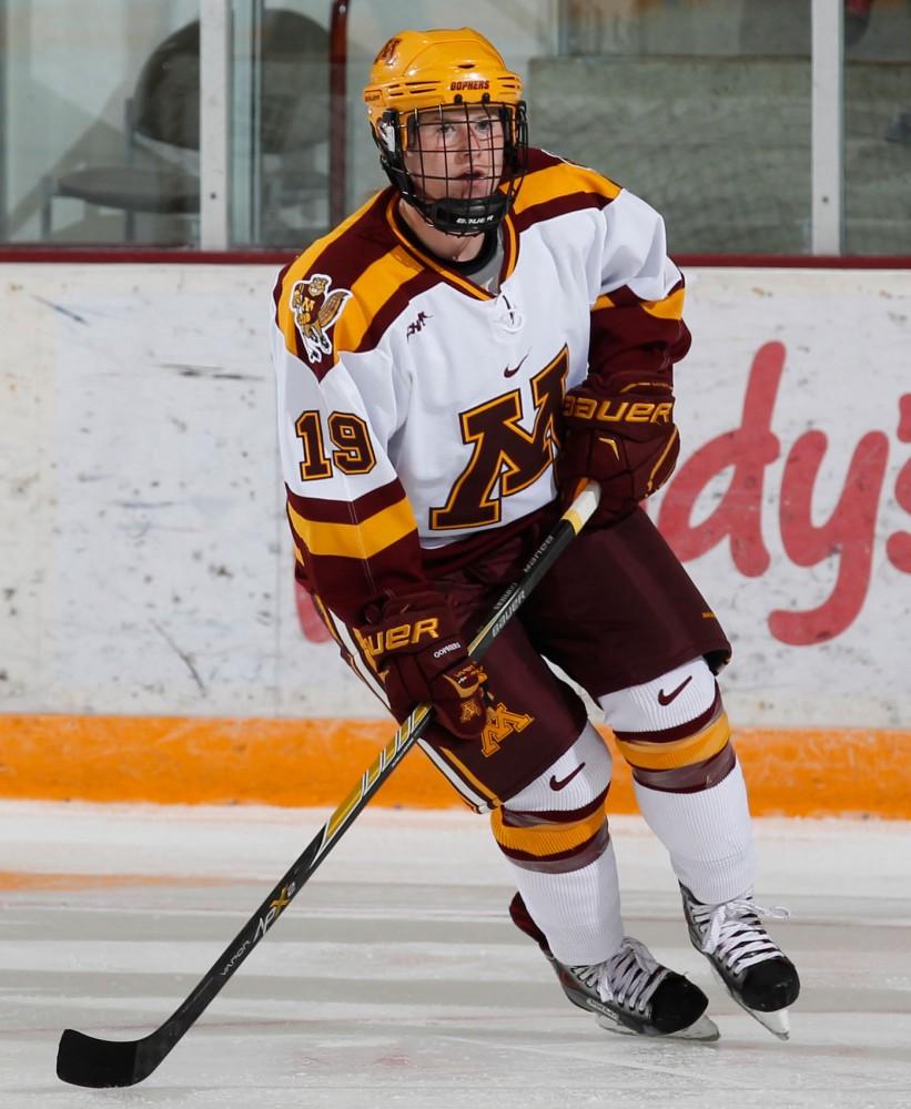 Minnesota freshman Kelly Pannek plays against Penn State on Oct. 3, 2014, at Ridder Arena.
