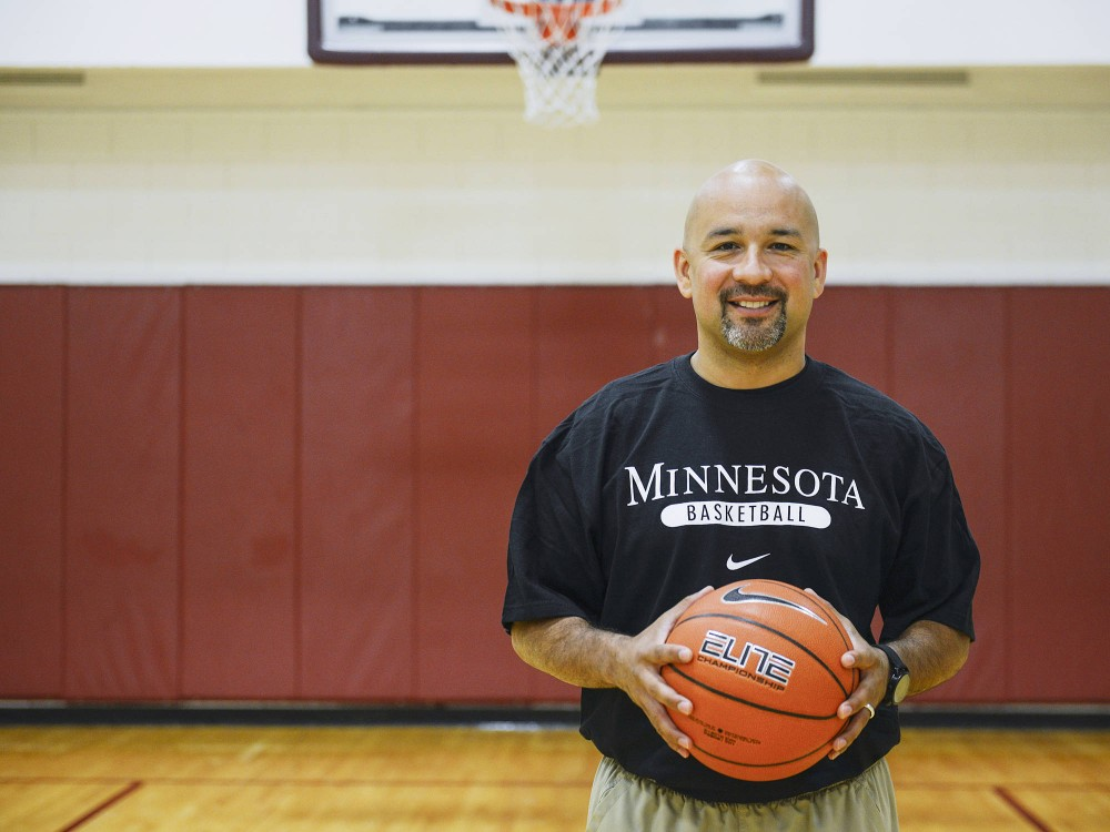 Gophers assistant womens basketball coach Fred Chmiel joined Marlene Stollings coaching staff in late May 2014. Chmiel will coach aganist his former team, Penn State, today.