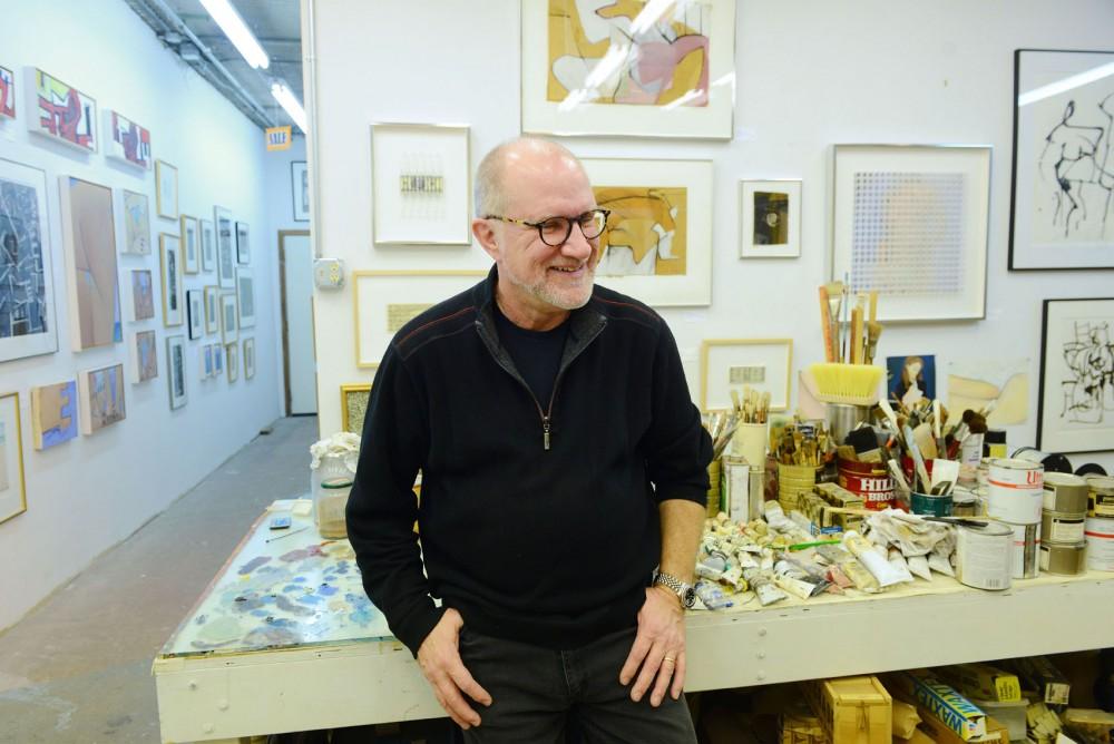 Artist John Ilg spends time in his studio downtown St. Paul on Friday, 23 Jan.. Ilg's new work,