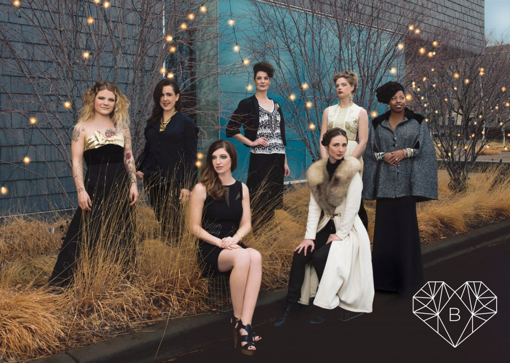 Local designers Stacie Yokiel, Emma Holcomb, Danielle Everine, Emrys Mariel, Sarah Patros, Claire Ward and Adrienne Yancy will be presenting their creations at the Black Hearts Ball on Feb. 14.