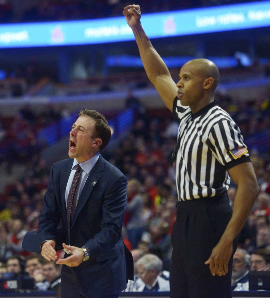 Minnesota head coach Richard Pitino yells at his team as a foul is called in the second half against Ohio State in the Big Ten tournament on Thursday in Chicago.