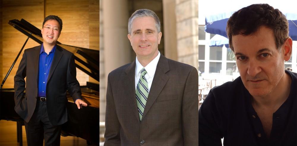 From the left: Michael Kim, Gary Mortenson and Daniel Melamed