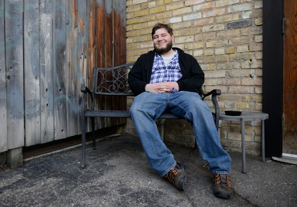 Blues-rock singer/songwriter Matt Latterell poses outside of Spyhouse Coffee Roasters in Minneapolis on Sunday. Lateral will play at band Aero Flynn's record release show at 7th Street Entry on April 3.