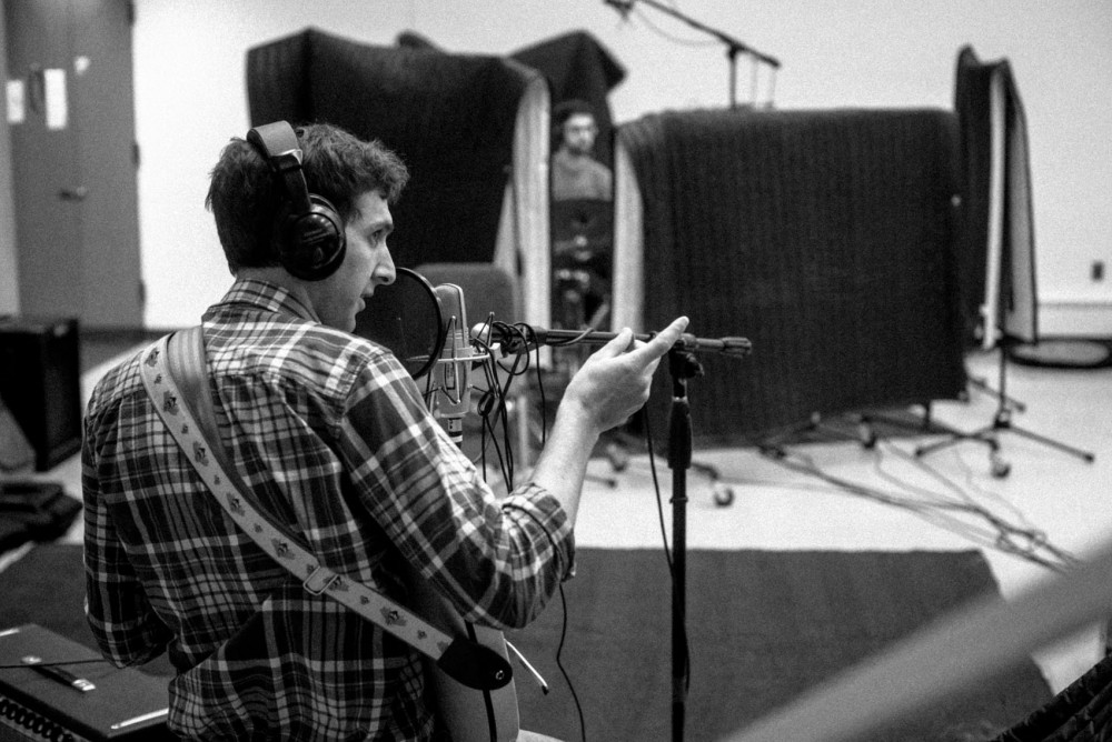 Lead singer Daniel Groll and drummer Michael Fuerstein record their first album for the Counterfactuals. The band will play at the Minnesota Music Summit this week.