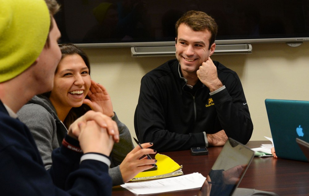 Former Gophers kicker Chris Hawthorne attends a committee meeting while he was a student at the University in Bierman Field Athletic Building on Feb. 17, 2014. Hawthorne recently joined a 13-person committee that will analyze the NCAA's transfer process.