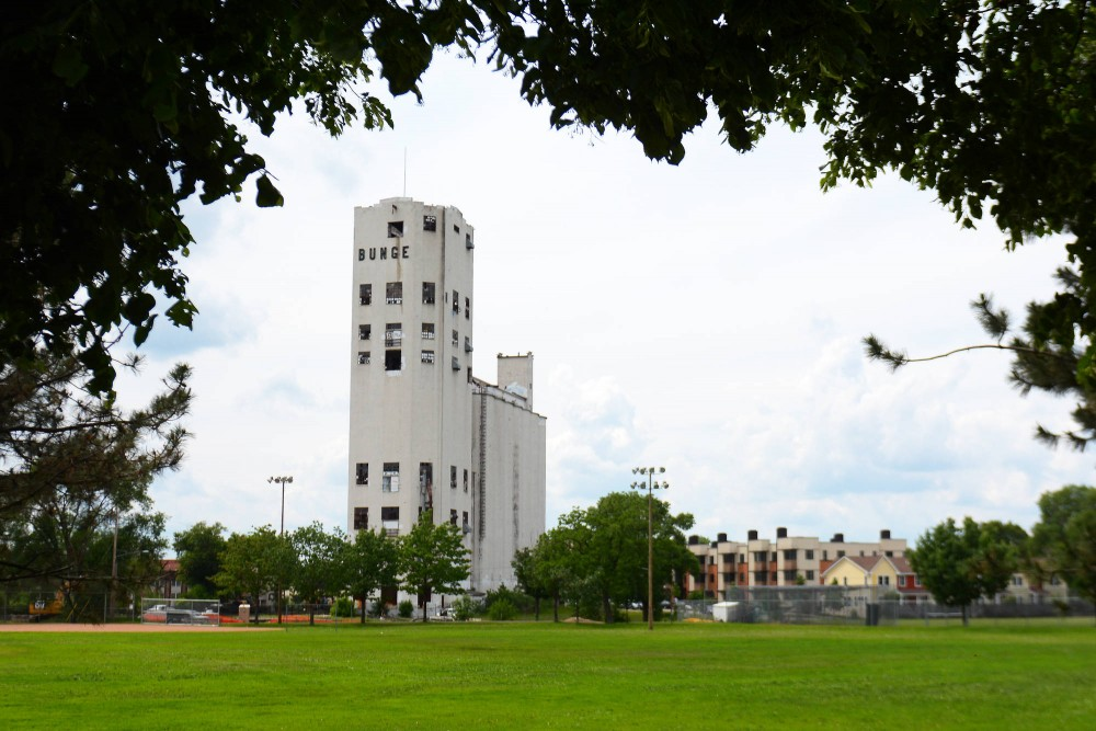 The abandoned Bunge grain elevator sits in Southeast Como, where a woman fell to her death while exploring the interior on Saturday. This is not a first  for the the tower, as in 2006 University student Germain Vigieant fell to her death while exploring without a flashlight.