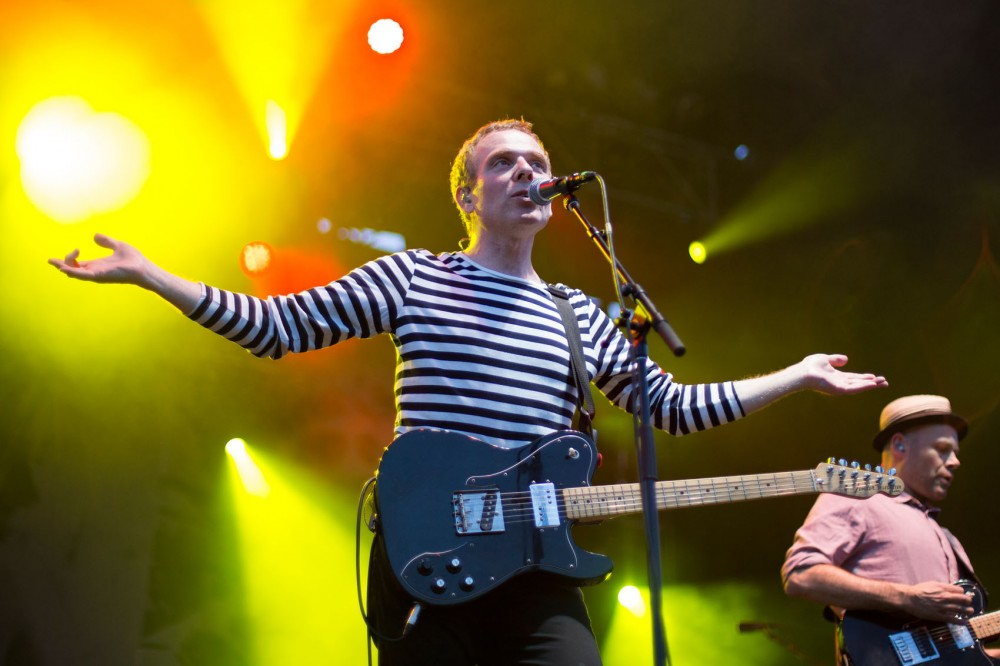 Belle and Sebastian perform as the headlining act at Rock the Garden on Saturday.