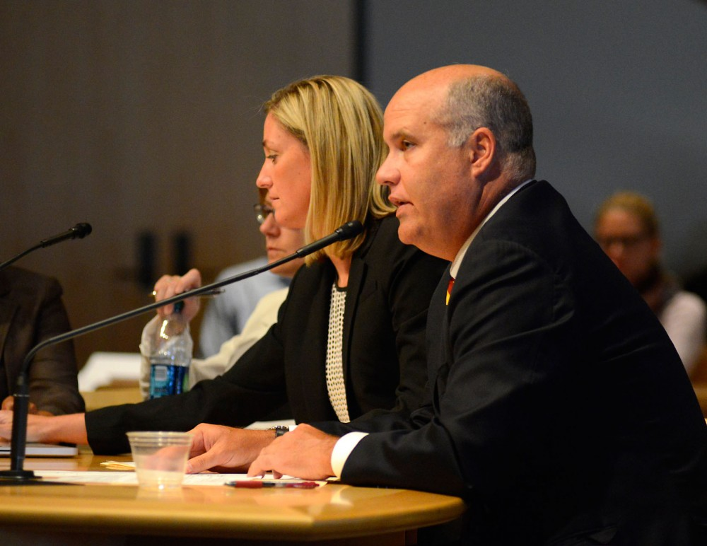 Norwood Teague, Director of Intercollegiate Athletics, speaks about Title lX at Board of Regents meeting on Wednesday, July 8. The U.S. Department of Education's Office of Civil Rights is currently investigating the University's compliance with Title lX.