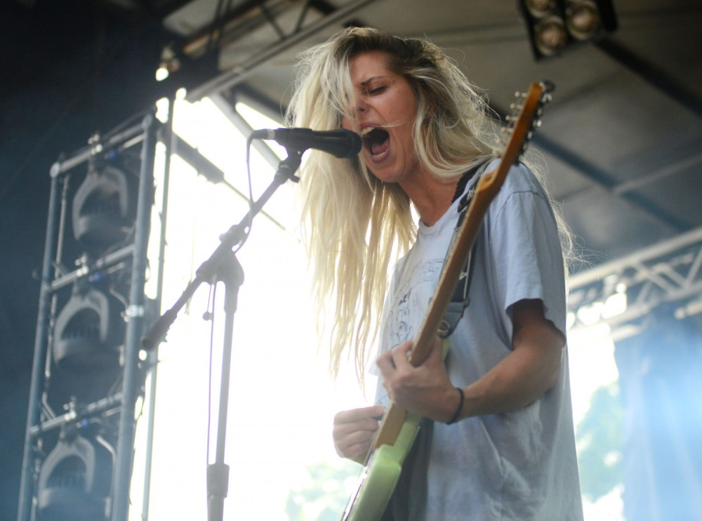 Minnesota native Alicia Bognanno performs with band Bully at Pitchfork Music Festival on Saturday, July 18. The indie-rock band formed in 2013 and is currently based in Nashville.