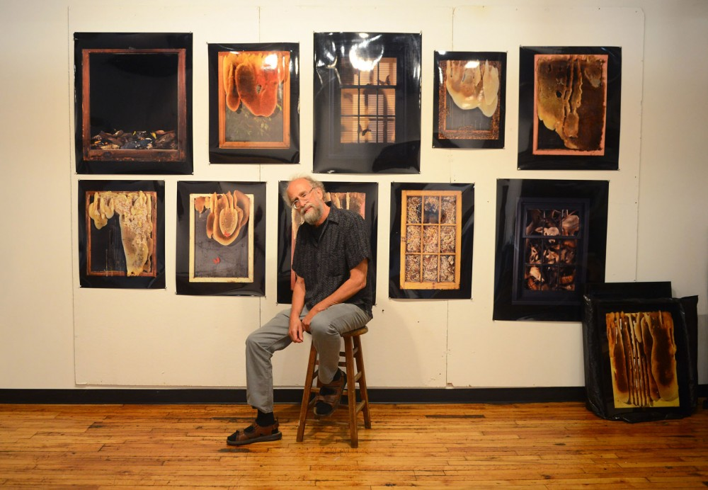 U professor Jeff Millikan poses in his studio in Minneapolis on Monday. Millikan is one of the artists showcasing bee-related art at the Inaugural Bee Arts Event at the St. Paul Student Center on Monday, August 3.