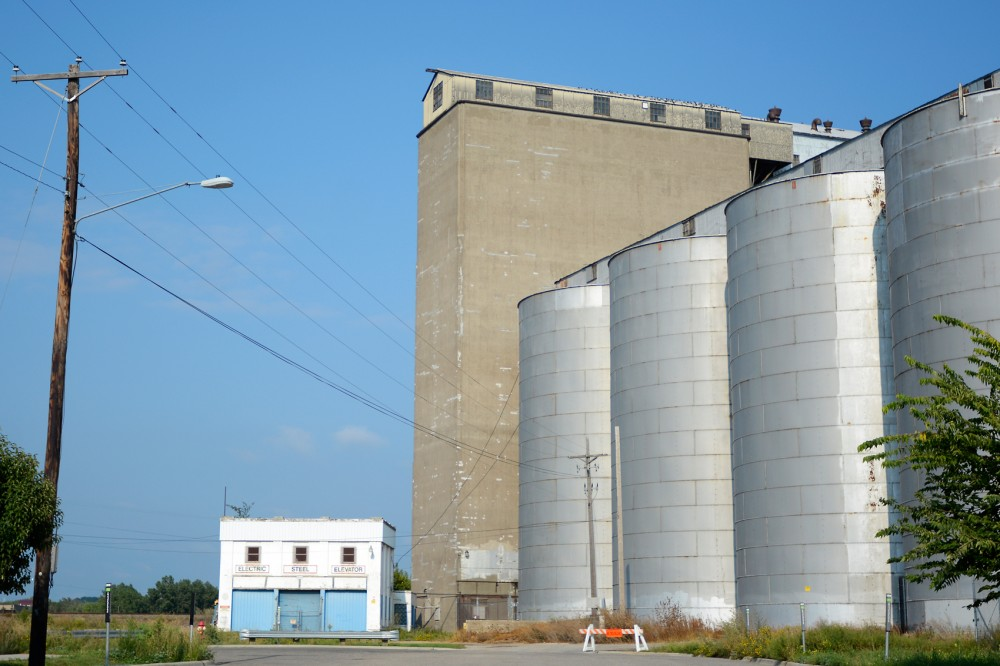 The Electric Steel Elevator stands in Prospect Park on September 9. In late August, the Minneapolis City Council denied the University's appeal to demolish the grain silos and develop on the plot of land.