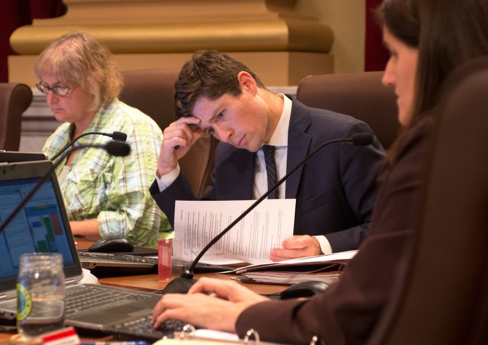 Councilman Jacob Frey during a council meeting on Friday at Minneapolis City Hall.