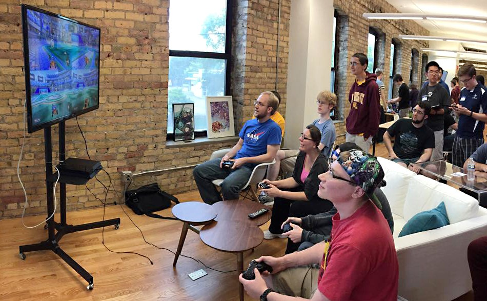 Students play video games during Greek Week in September. Glitch is a nonprofit organization based at the University that promotes the exploration of video games as a culture, career and creative practice.