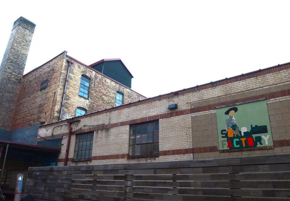 The exterior of the Soap Factory as seen on Sunday. The Soap Factory is scheduled to go on a break starting December.