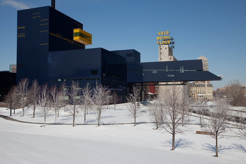 Photo of the Guthrie: The Guthrie Theater in the winter. Photo by Lisa Bond.
