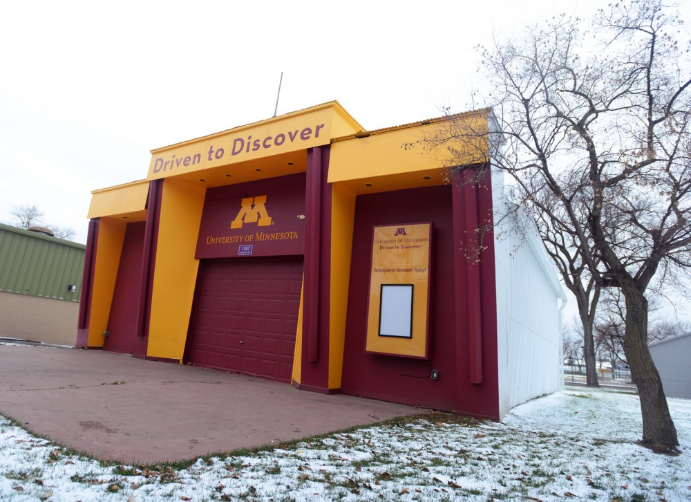 The University of Minnesotas Driven to Discover building sits at the State Fair grounds on Sunday. Some University faculty wish to revamp the building in an effort to make the University more attractive and draw in research participants.