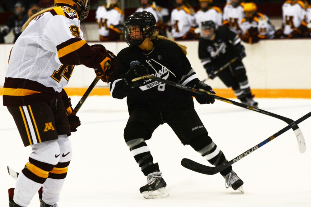 Rachael Bona plays against the Gophers at Ridder Arena on Sept. 24, 2015.