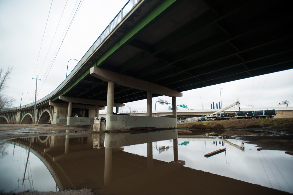 The underside of the 10th avenue bridge on Tuesday. A plan for the bridges needed repair is projected to cost 42.5 million dollars.