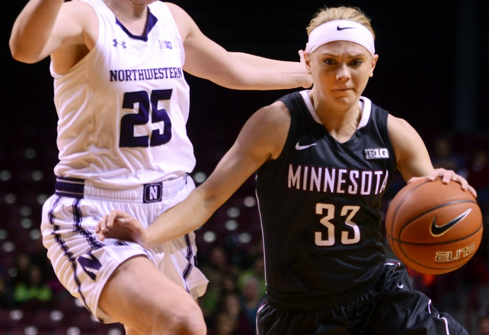 Gophers guard Carlie Wagner carries the ball against Northwestern at Williams Arena on Wednesday.