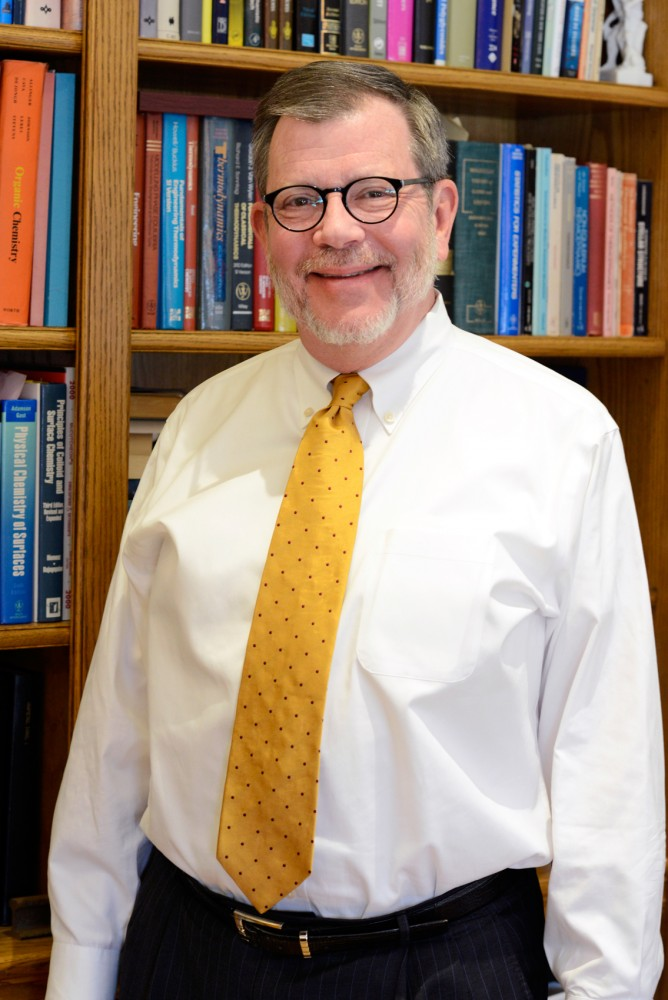 University President Eric Kaler stands in his office in Morrill Hall on Wednesday afternoon.