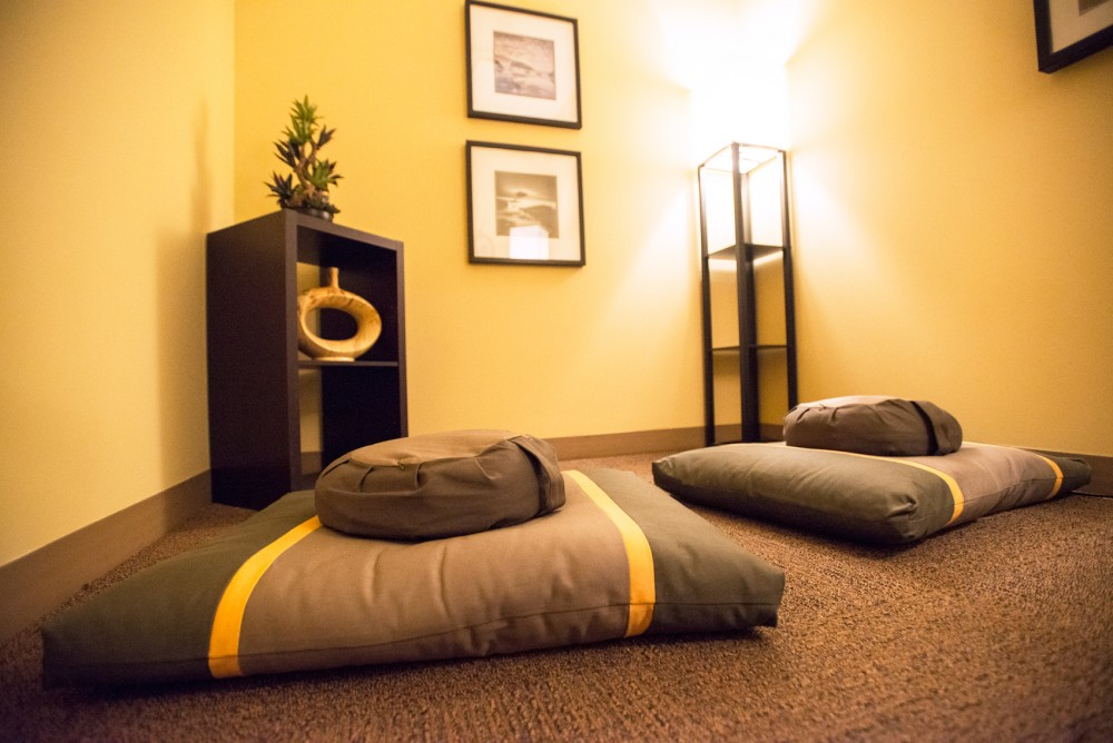 As part of the Housing and Residential Life campaign to set aside space for students to practice mindfulness, 17th Avenue Residence Hall and Comstock Hall now offer a meditation room to residents.